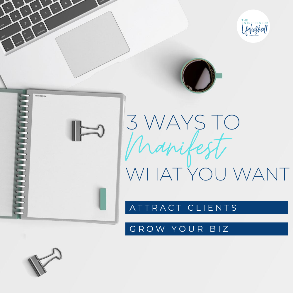 3 Ways to Manifest What You Want Attract Clients Grow Your Biz