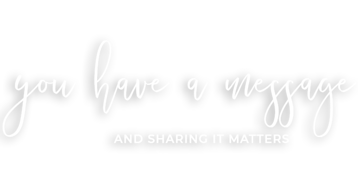 You Have A Message and Sharing Matters - White Text - Transparent