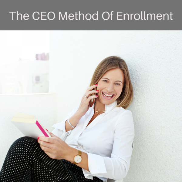 The CEO Method Of Enrollment - white blouse