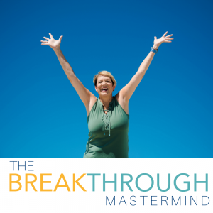 The Breakthrough Mastermind - Patti Keating - Blue Background