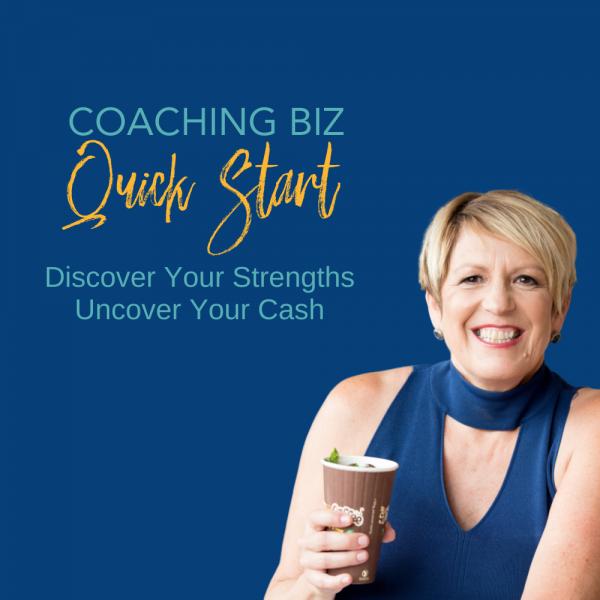 Coaching Biz Quick Start - Patti Keating - Blue Background