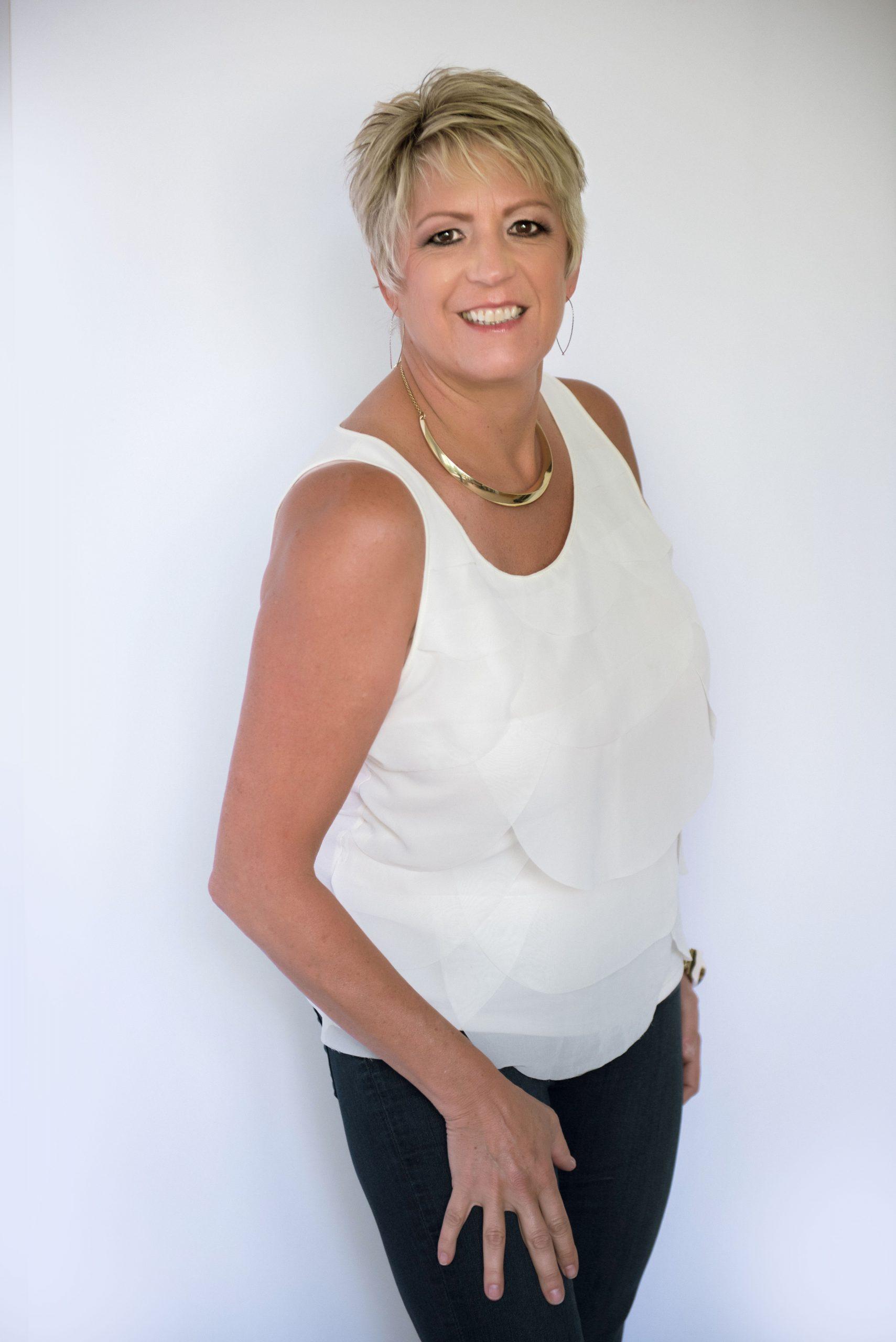 Patti Keating - white blouse
