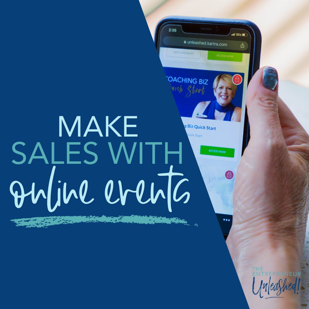 Make Sales with Online Events